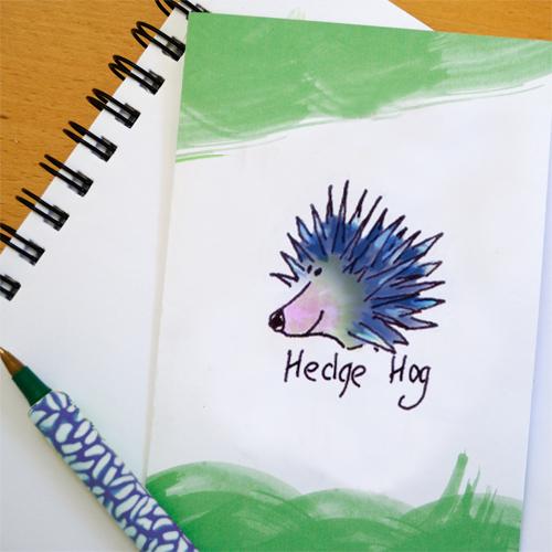 free greetings card hedge hog