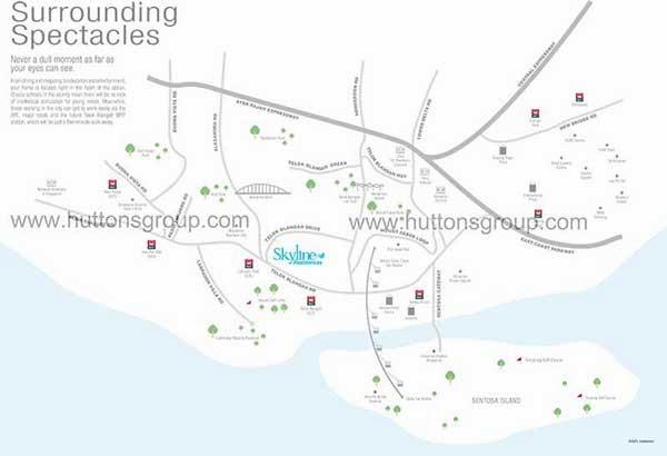Skyline Residences Location Map