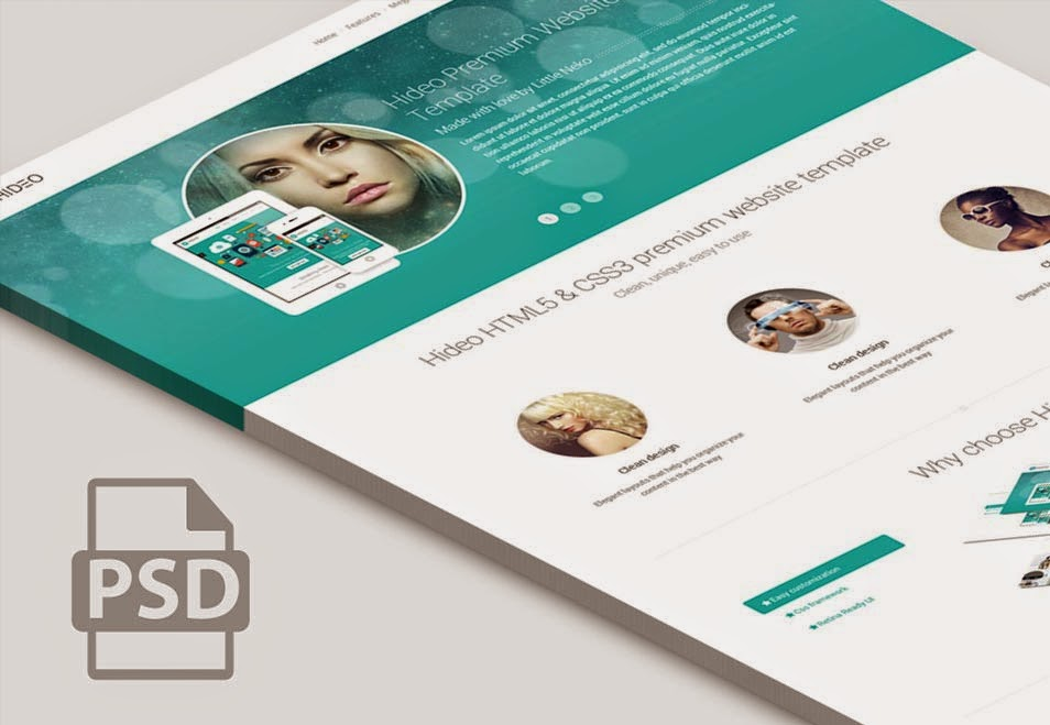 Free Home Page Website PSD Template