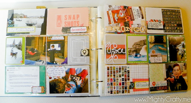 December 2012 Project Life layout by www.MightyCrafty.me