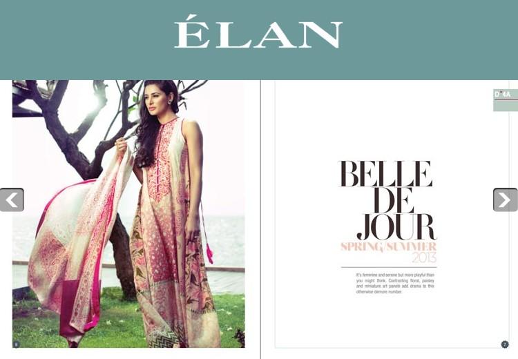 Mills Pakistan  city images : Elan Lawn 2013 By Hussain Mills Pakistan New Clothing9