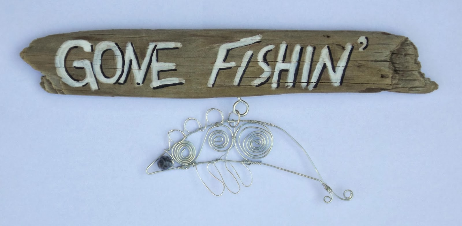 Eclectic Studio: Gone Fishing Wire Wrapping Wall Art