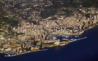 Aerial view of the Principality of Monaco