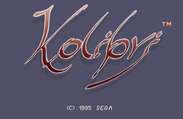 Kolibri 32X title screen logo