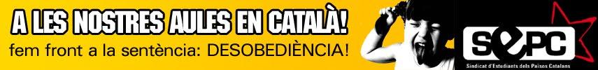 A les nostres aules, en català!