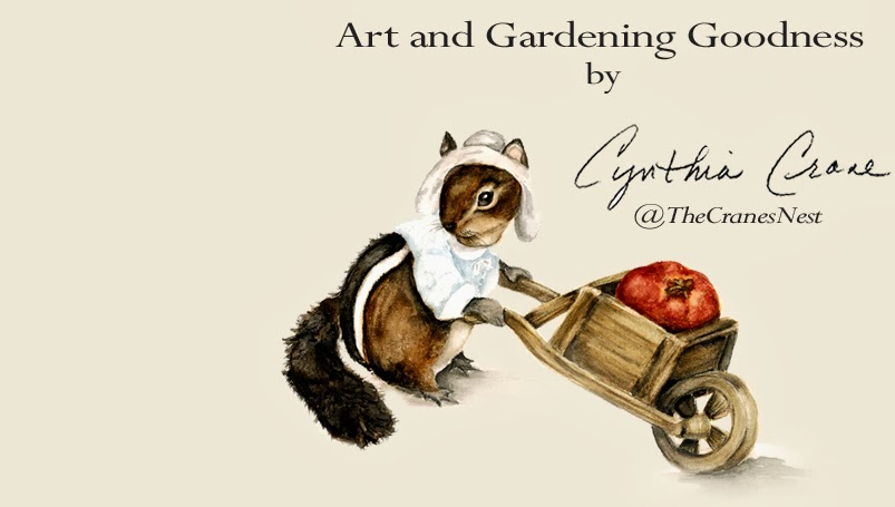 Cynthia Cranes Art and Gardening Goodness