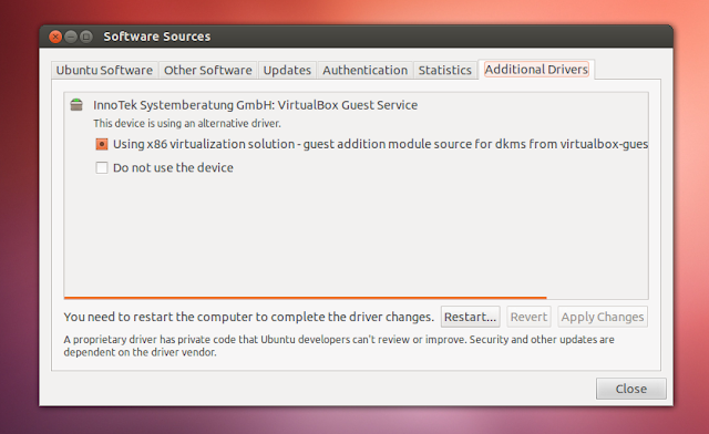 Nueva interface para instalar Drivers en Ubuntu 12.10