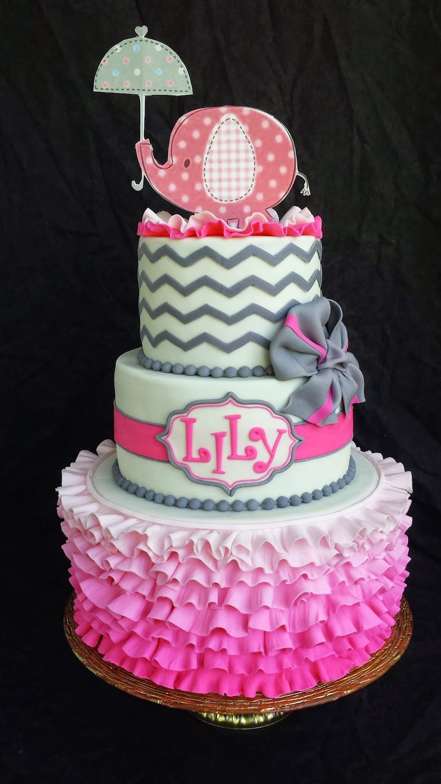 Baby Girl Shower Cake Made With Doughnuts