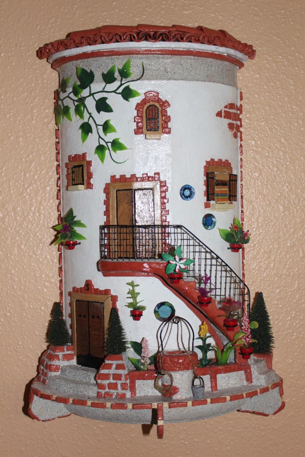 Tejas decoradas hechas a mano - Casas para belenes hechas a mano ...