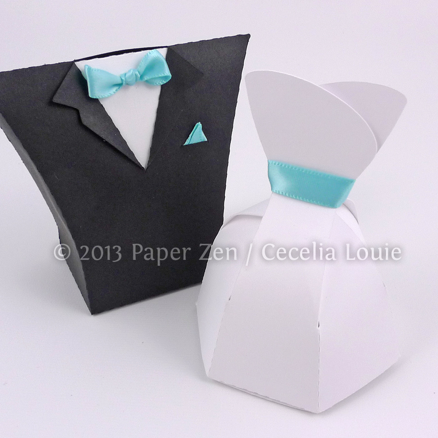 Welcome To Paper Zen Cecelia Louie Bride Dress And Groom Tuxedo