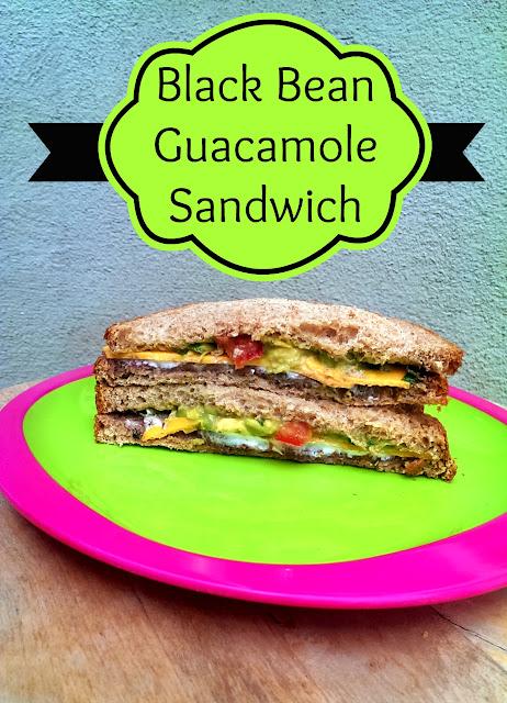 Oroweat Black Bean Guacamole Sandwich