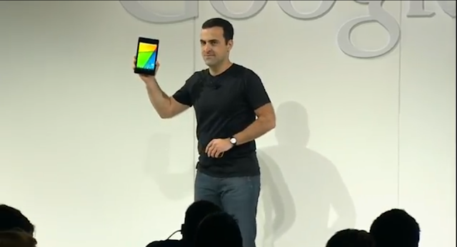 Hugo Barra launching the New Nexus 7 photo