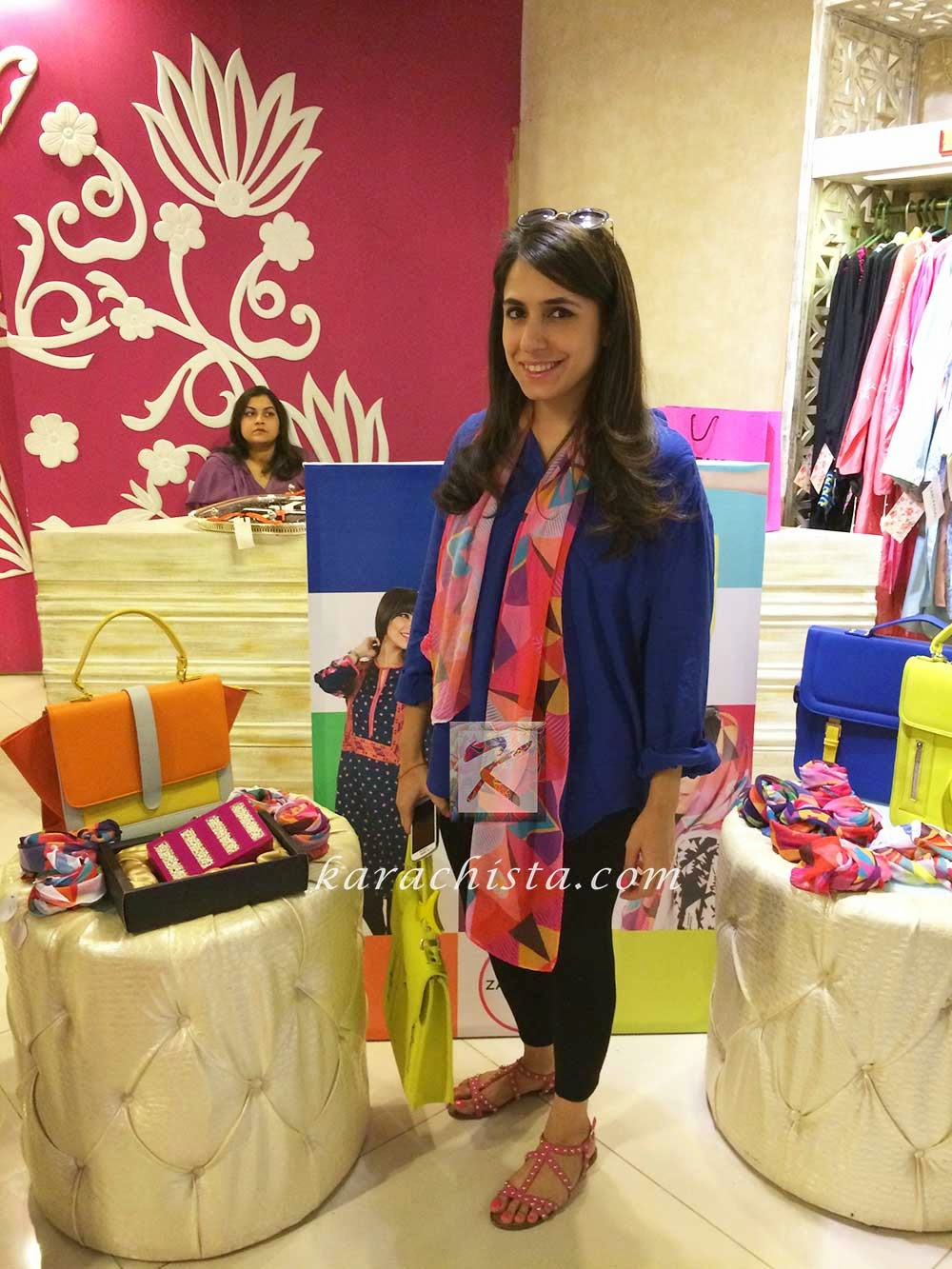Zari Faisal Pakistani designer pop up store at Ensemble One