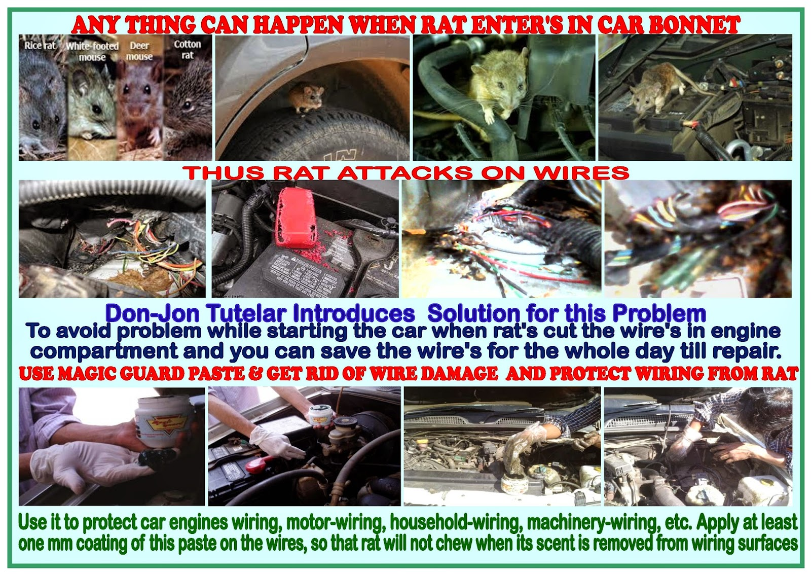 how to prevent car wires from rats rh rats chewing car wiring blogspot com