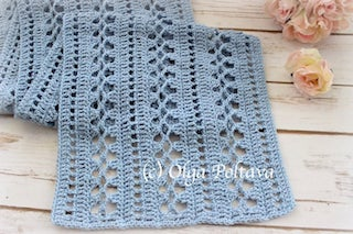 Easy Lacy Scarf Crochet Pattern