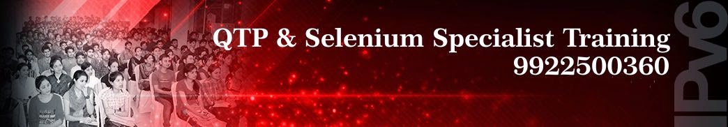 Selenium & QTP Training Classes In Pune - 9922500360 www.automationInfotech.co.in
