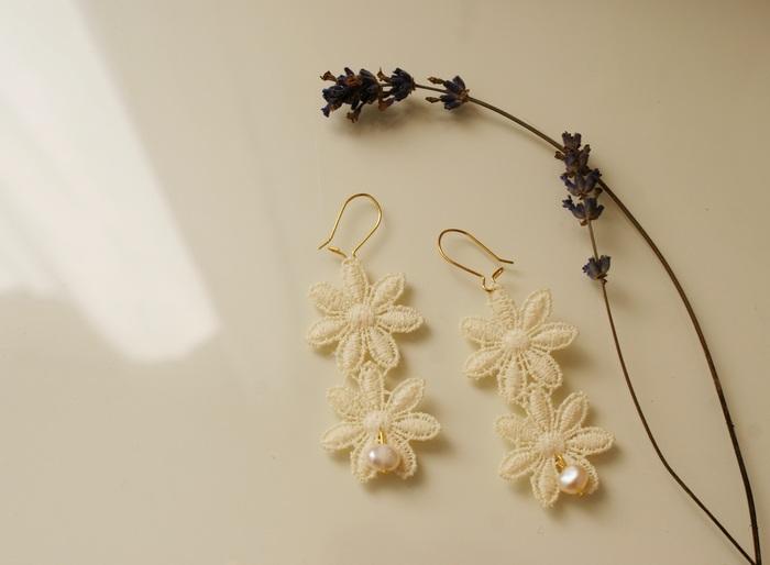 wedding earrings diy lace francinesplaceblog
