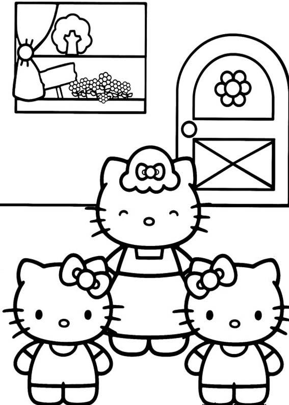 Desenhos Para Colorir Hello Kitty Fofo