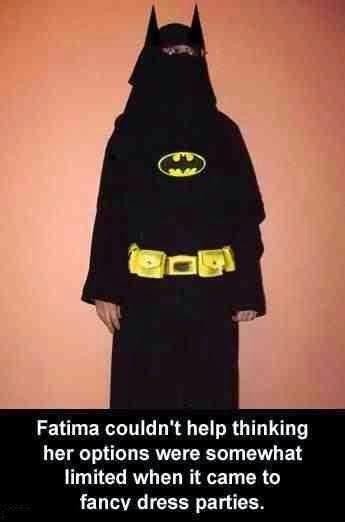 Funny Muslim Burka Batman Fancy Dress Joke Picture