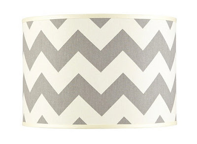grey chevron lamp shades by Ballard Design