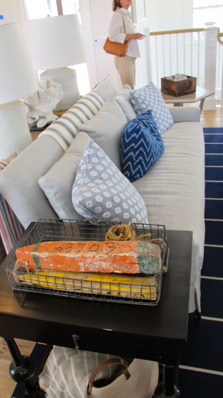 Nautical by Nature   Coastal Living Showhouse: Kitchen/Living/Dining Room