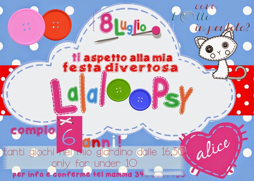invito compleanno lalaloopsy DIY