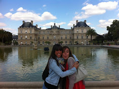 con Claudette à Paris, aux jardins du Luxemburg.