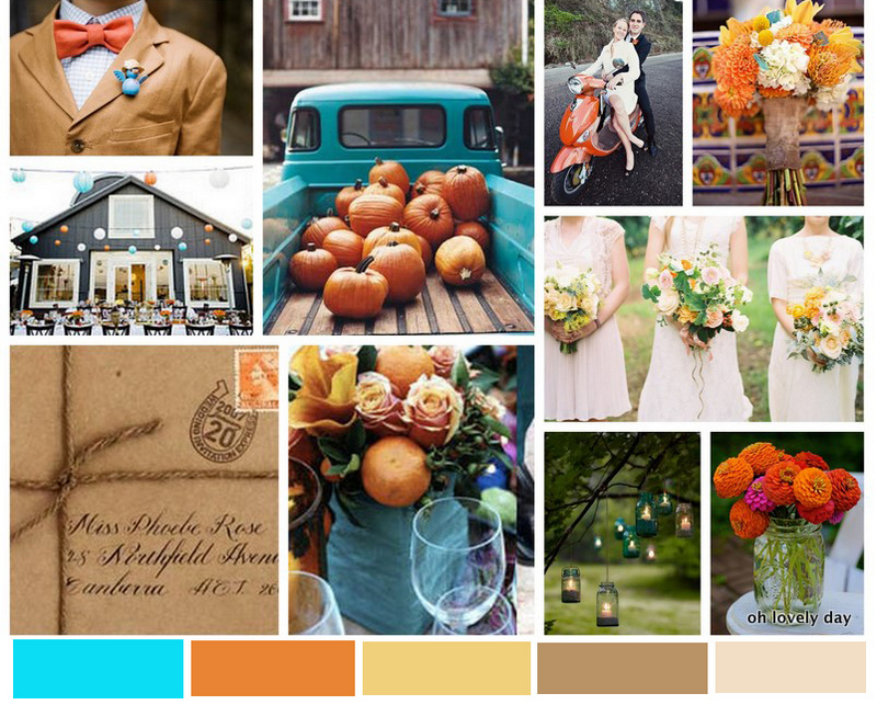 Inspiraton Board Fun Amp Fresh Color Fall Wedding