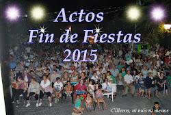 ACTOS FIN DE FIESTAS 2015