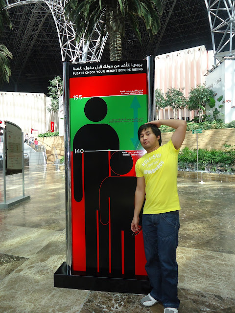 Height Check at Ferrari World, Yas Island Abu Dhabi