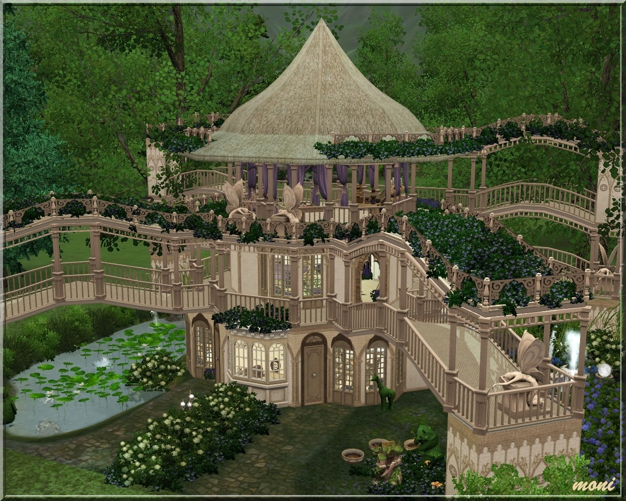My sims 3 blog fairy house by moni for Classic house sims 3