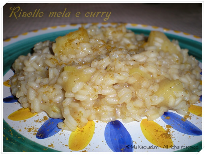 Risotto con mela e curry