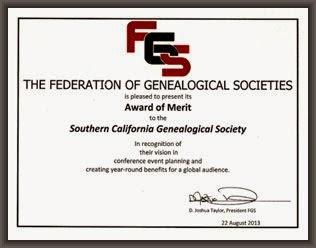 Award from FGS 2013