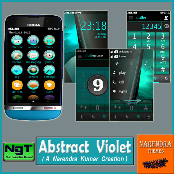 Narendra's Themes: Abstract Violet
