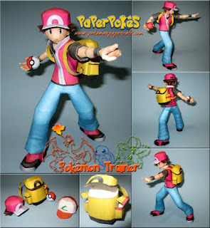 Pokemon Trainer Papercraf