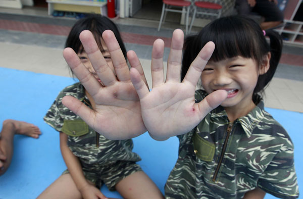 Military Kindergarten Toughens Up Preschoolers with Marine Drills