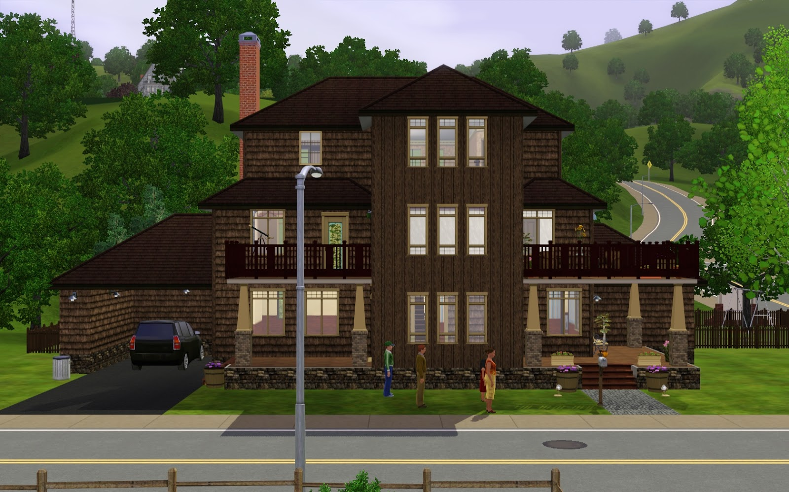 Summers Little Sims 3 Garden Sunset Valley The Base Game List Of Houses