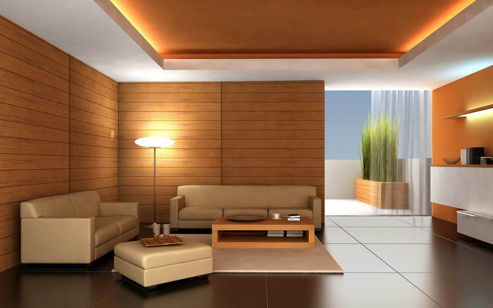Wallpaper modern living room paos for Wallpaper for the room