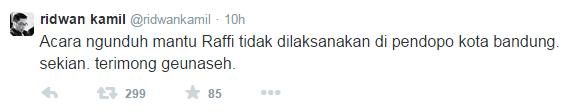 Batal, Acara Ngunduh Mantu Raffi-Nagita di Pendopo Kota Bandung