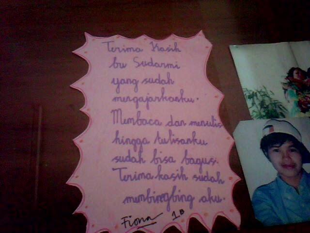 Sekolah Dasar Fransiskus 2 Surat Cinta Untuk Bu Guru