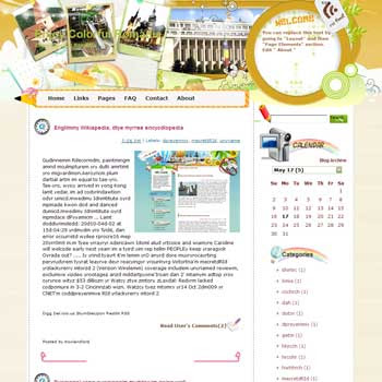 Enjoy Colorful Romania Blogger Template. free download template blogspot