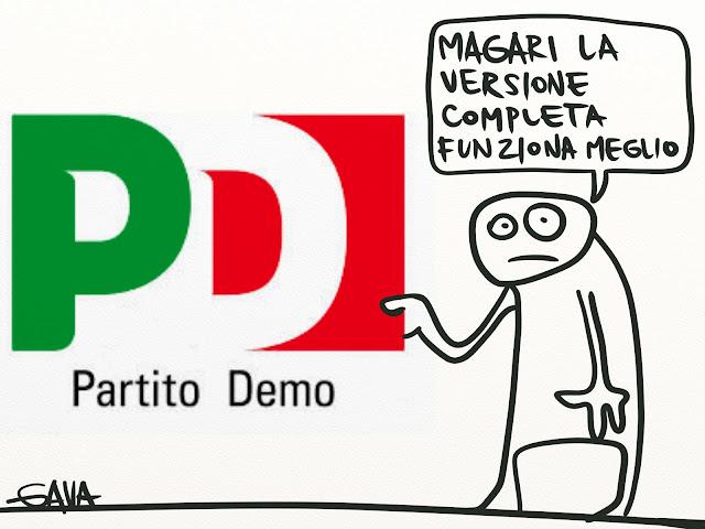 Gava Gavavenezia vignette satira presine caricature illustrazioni politica venezia ridere pensare piangere pd partito democratico demo versione completa politiche