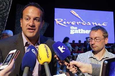 Irish Tourism Minister Leo Varadkar speaks at a Dublin Gathering event based on Riverdance in July.