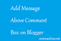 Above the Comment Box on Blogger