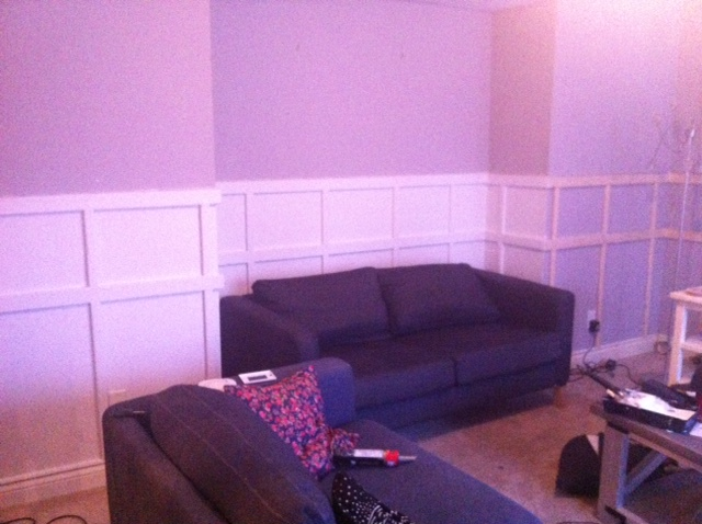 artisan des arts: $350 family room update (painted fireplace, board ...