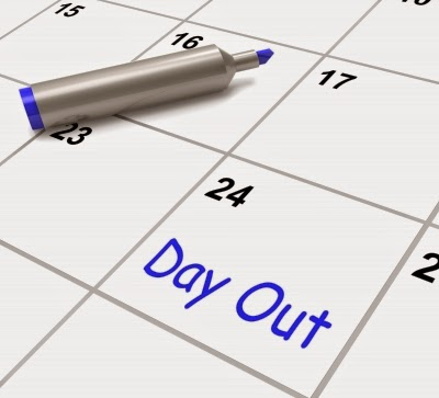 """Day Out Calendar Means Excursion Trip Or Visiting"" by Stuart Miles freedigitalphotos.net"