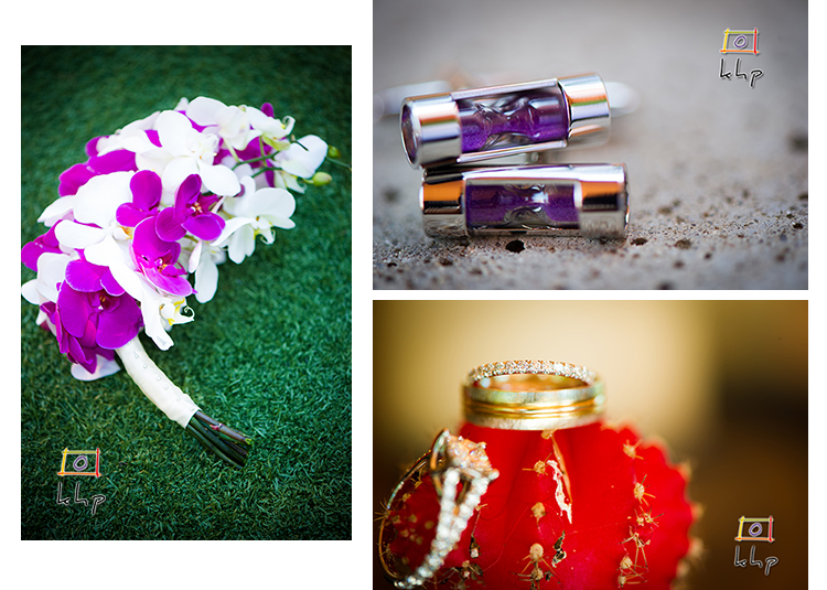 The bouquet, the cufflinks and the rings.