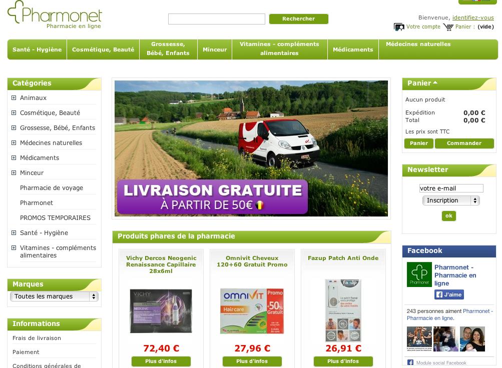 Pharmonet une pharmacie en ligne plut t sympathique - Pharmacie en ligne frais de port gratuit ...