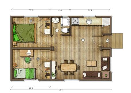 Dise os de casas planos gratis planos de casas gratis 41 m2 for Diseno casas minimalistas economicas