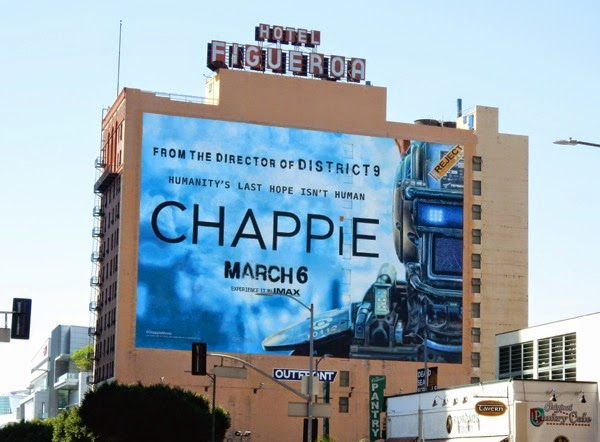 Giant Chappie film billboard
